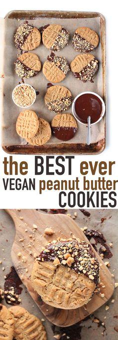 Vegan Chewy Peanut Butter Cookies