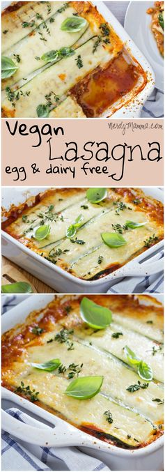 Vegan Lasagna (Dairy-Free & Egg-Free