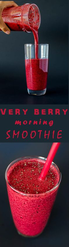 Very berry morning smoothie