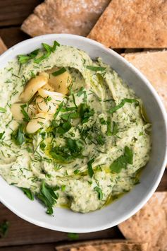 White Bean Dip with Roasted Garlic and Herbs