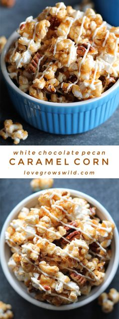 White Chocolate Pecan Caramel Corn