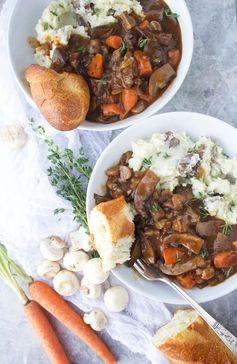 30 Minute (Vegan Portobello Mushroom Bourguignon