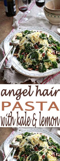 Angel Hair Pasta with Kale and Lemon
