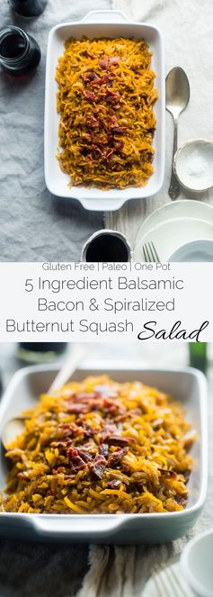 Balsamic Butternut Squash Salad with Bacon
