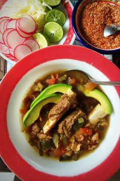 Beef Pozole in the Slow Cooker