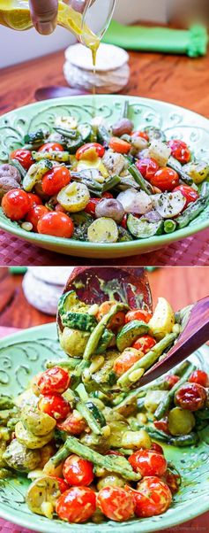 Bombay Veggie Bowl - Roasted Vegetables with Coconut Curry Dressing