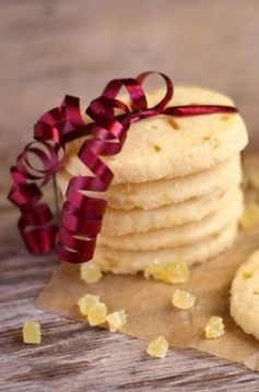 Candied Ginger Shortbread Cookies