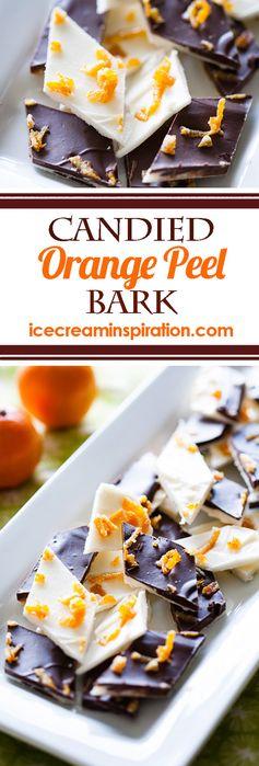 Candied Orange Peel Bark