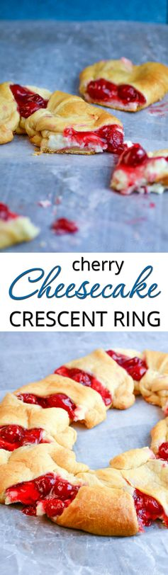 Cherry and Cheesecake Crescent Ring