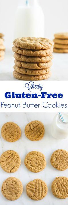 Chewy Gluten Free Peanut Butter Cookies