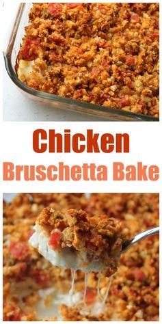Chicken Bruschetta Bake (the BEST meal to take to someone!