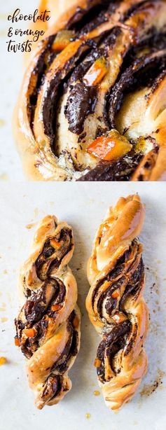 Chocolate and orange twists
