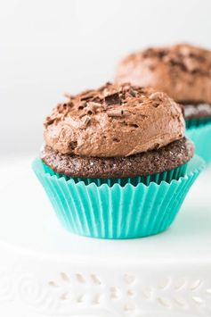 Chocolate Cupcakes with Chocolate Mousse Frosting