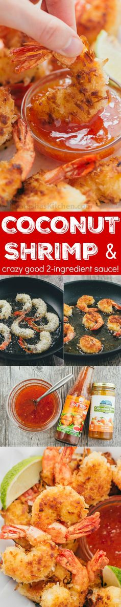Coconut Shrimp with 2-Ingredient Dipping Sauce