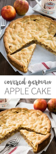 Covered German Apple Cake