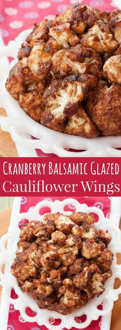 Cranberry Balsamic Glazed Cauliflower Wings for #SundaySupper