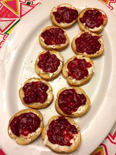 Cranberry Goat Cheese Bruschetta Appetizer
