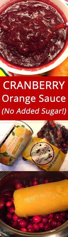 Cranberry Orange Sauce With No Added Sugar