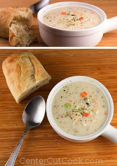 Cream of Chicken & Wild Rice Soup (Slow Cooker