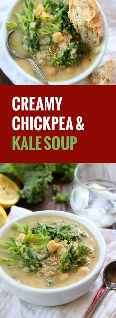 Creamy Chickpea and Kale Soup