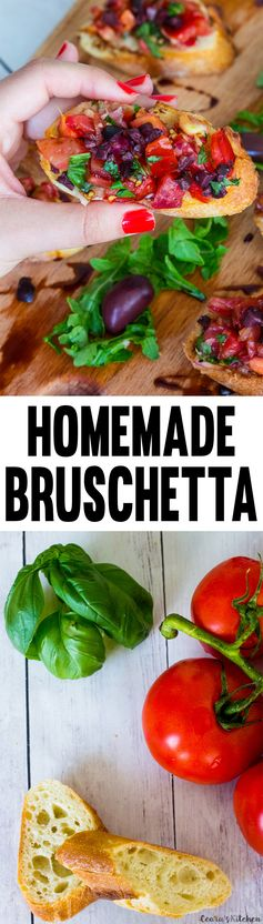 Easy Vegan Bruschetta