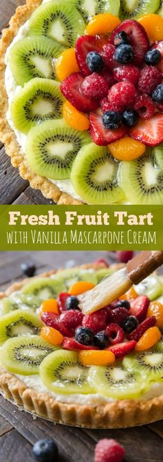 Fresh Fruit Tart with Vanilla Mascarpone Cream