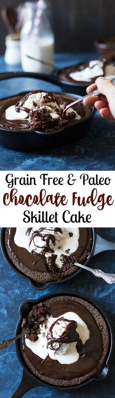 Fudgy Paleo Chocolate Skillet Cake