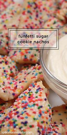 Funfetti Sugar Cookie Nachos