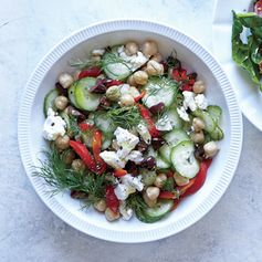 Greek Cucumber and Chickpea Breakfast Bowl