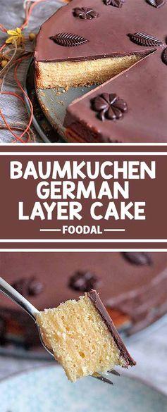 Homemade Baumkuchen Cake