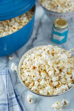 Homemade Popcorn with Truffle Salt