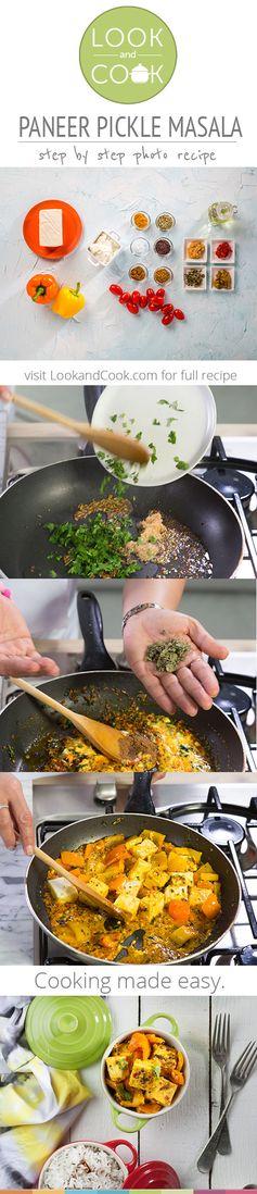 How to make paneer pickle masala