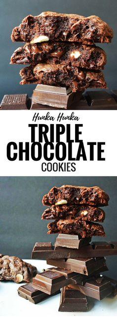 Hunka Hunka Triple Chocolate Cookies