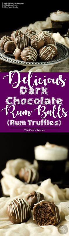 Intense Dark Chocolate Rum Balls (Rum Truffles