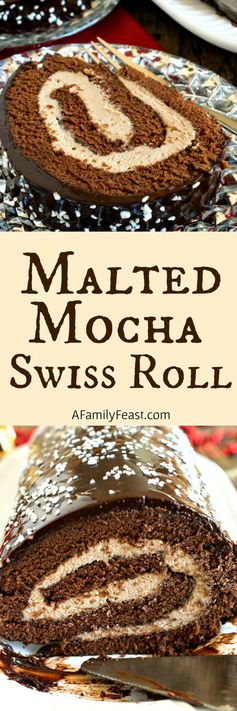 Malted Mocha Swiss Roll