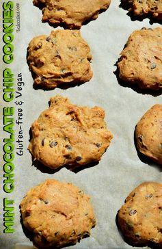 Mint Chocolate Chip Vegan Cookies