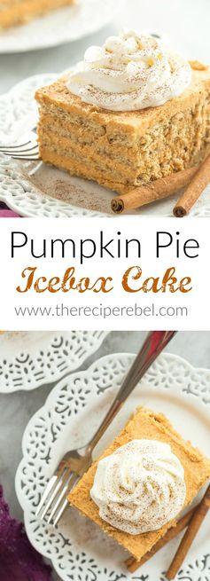 No Bake Pumpkin Pie Icebox Cake
