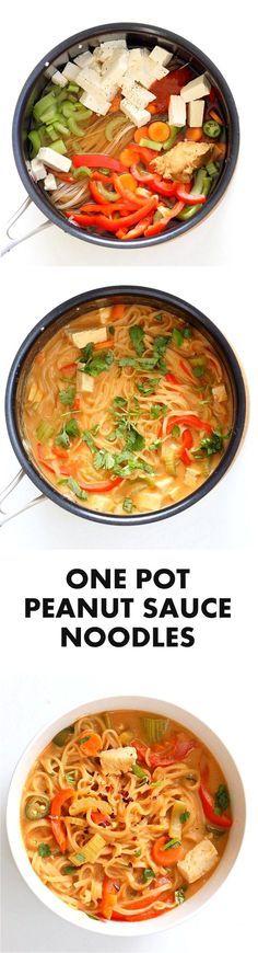 One Pot Peanut Sauce Noodles