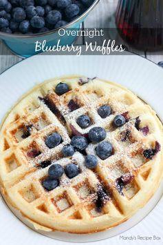 Overnight Blueberry Waffles