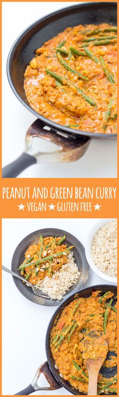 Peanut and green bean curry