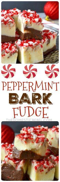 Peppermint Bark Swirled Fudge