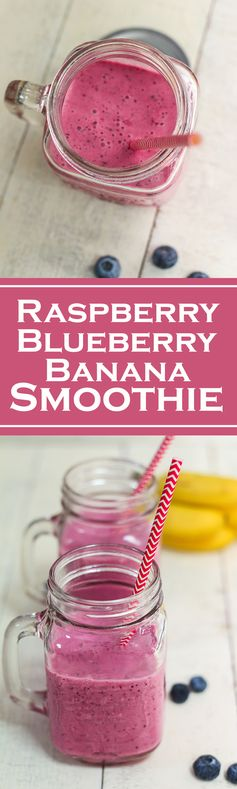 Raspberry Blueberry Banana Smoothie