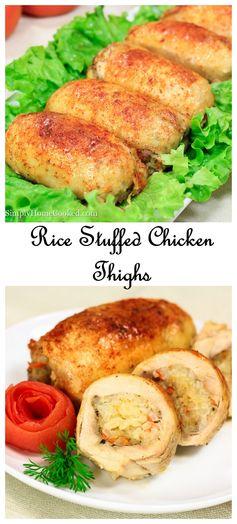 Rice Stuffed Chicken Thighs