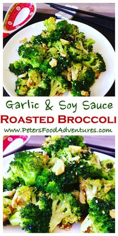 Roasted Broccoli with Garlic and Soy Sauce