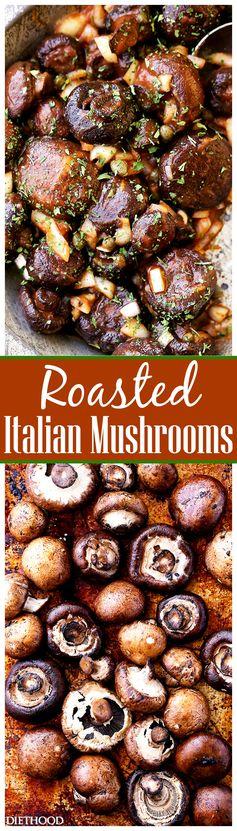Roasted Italian Mushrooms