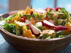 Romaine Salad with Parmesan Crisps