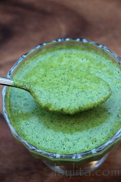 Salsa de jalapeño y cilantro