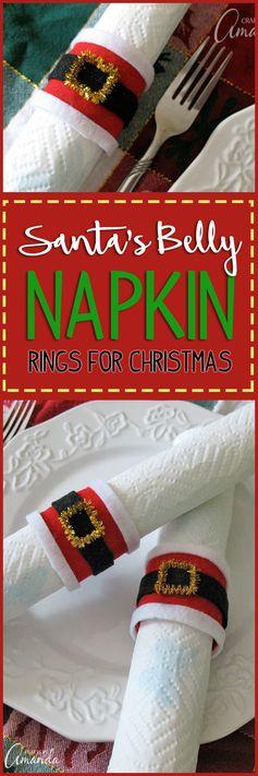 Santa's Belly Napkin Rings