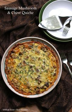 Sausage Mushroom Quiche with Chives