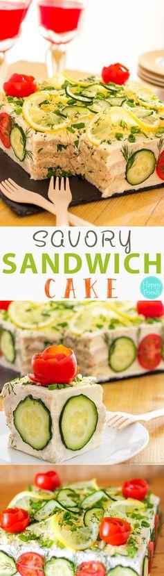 Savory Tuna Sandwich Cake (Smörgåstårta